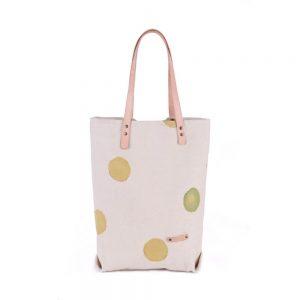 Ленена чанта на точки в тревисто