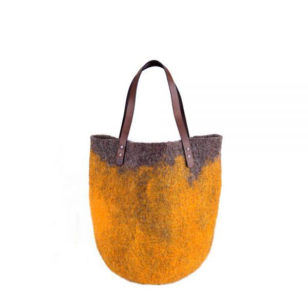 Жълта плъстена чанта
