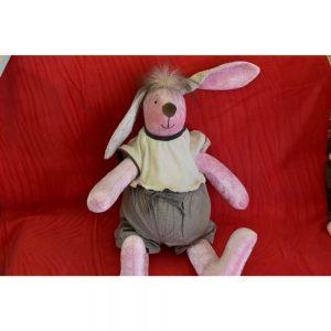 Играчка розов заек