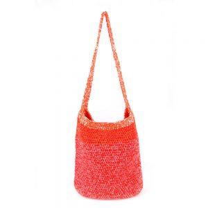 Плетена торба в оранжево