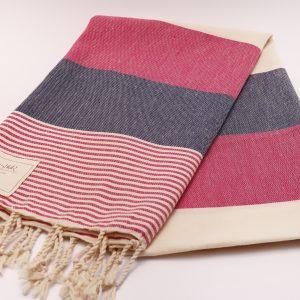 Кърпа в розово и бежово