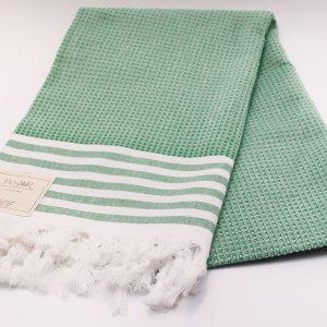 Зелена памучна кърпа