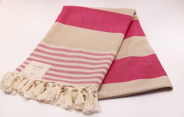 Памучна кърпа в розово
