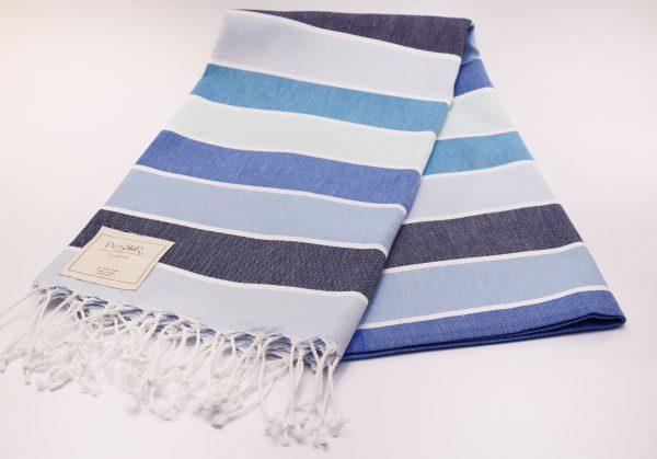Синя памучна кърпа