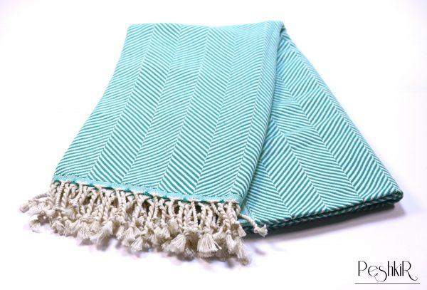 Тюркоазена памучна кърпа