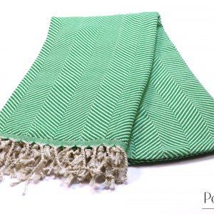 Памучна кърпа в зелено